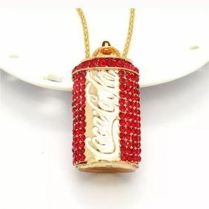 Jewelry - Betsey Johnson Red Crystal Coke Bottle Necklace